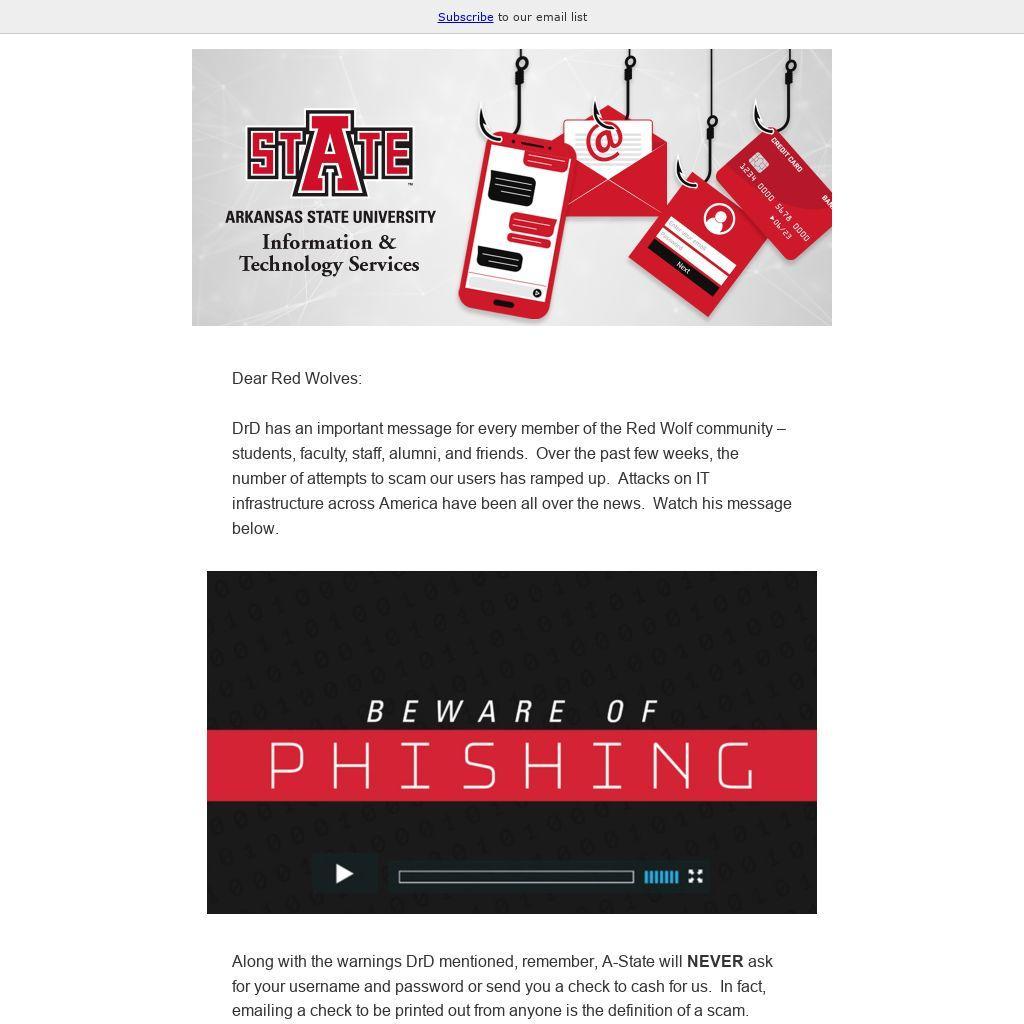 Beware of Phising, Send 1