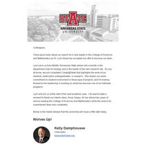 SciMath Dean Announcement
