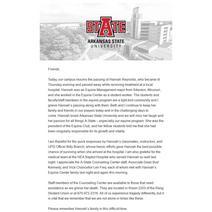 Hannah Reynolds Campus Notice