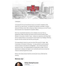 Provost Announcement