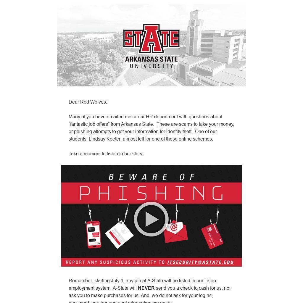 Beware of Phising, Student Story