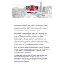 ECS Dean Announcement
